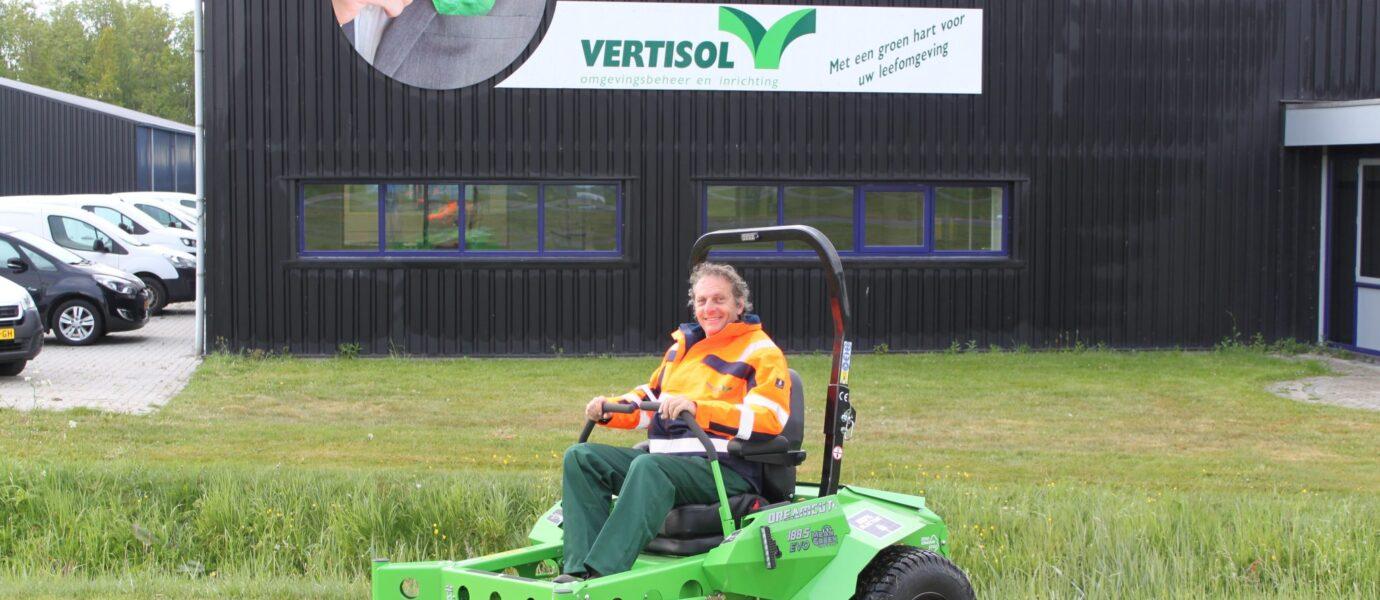 Vertisol heeft Europese primeur met nieuwe Evo-188 elektrische grasmaaier